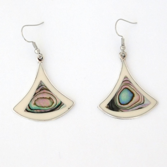 8fcb098b8 Alpaca Mexico Jewelry | Silver Earrings White Enamel P81 | Poshmark